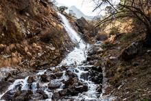 Small Scenic Mountain Waterfall