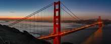 Golden Gate Bridge At Sunrise ...