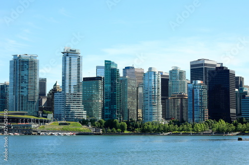 View of Vancouver downtown from Stanley Park.