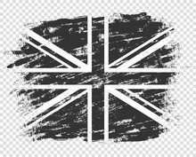 The Flag Of Britain Silhouette...