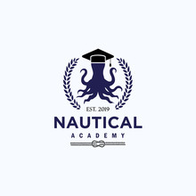 Logo Template For Nautical Edu...