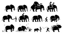 Human And Elephant Pictograms ...