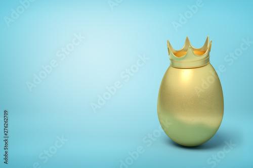 3d rendering of golden chic...
