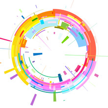 Circle Of Colored Geometric Sh...