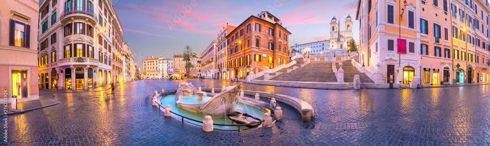 Fototapeta Piazza de spagna(Spanish Steps) in rome, italy