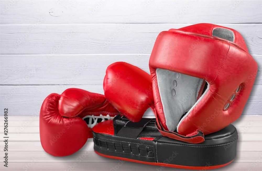 Fototapety, obrazy: Pink boxing gloves on background