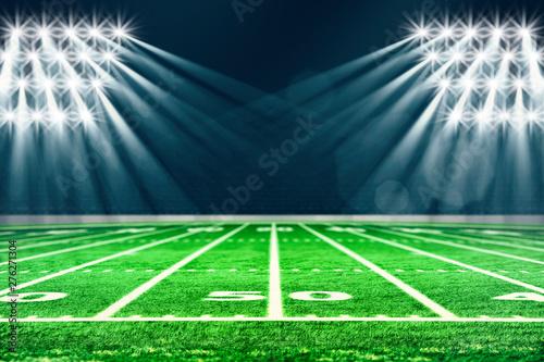 Perspective of football field Fototapeta