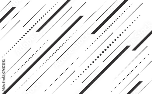 Valokuvatapetti Speed lines and dots lines angle vector background abstract
