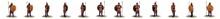 3d Render, Warrior Character Set, Illustration