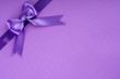 canvas print picture - purple ribbon on purple background