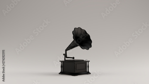 Fotomural  Black Vintage Gramophone 3d illustration 3d render