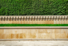 The Facade Of The Marble In The Memorial Complex In Baku