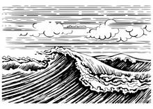 Storm Sea Wave
