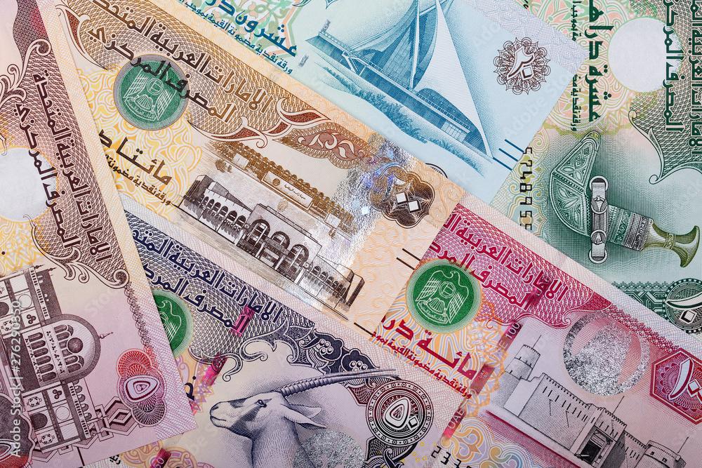 Fotografie, Tablou  United Arab Emirates Dirham, a business background