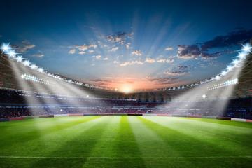 Nogometni stadion 3d prikazivanje nogometni stadion s pretrpanom terenskom arenom