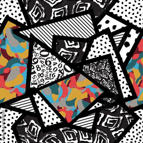 Poster Graffiti seamless pattern vector