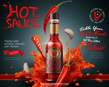 Hot Sauce Product Ads