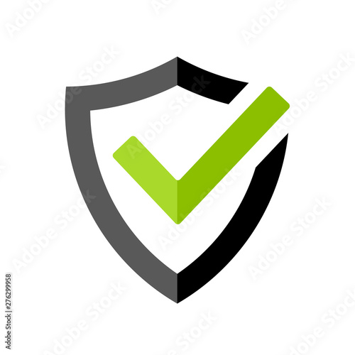 Strong protection tick shield icon Fototapet