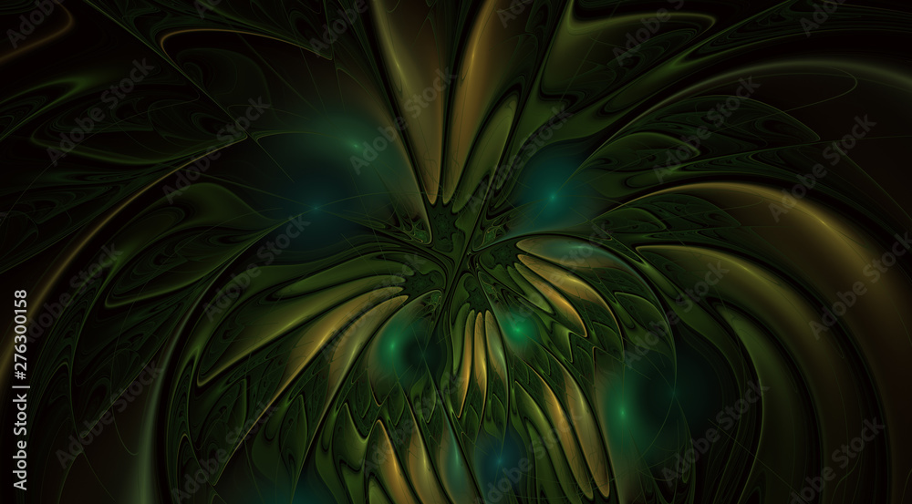 Fantasy artistic flower with lighting effect.