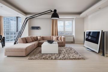 Obraz na SzkleLuxury living room interior