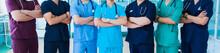 Profession Medicine Staff. Mul...