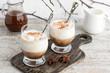 Vanilla gelato or ice cream topped with a shot of hot espresso