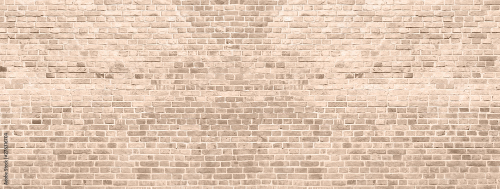 Fototapety, obrazy: Old red brick wall background. Panoramic wide texture