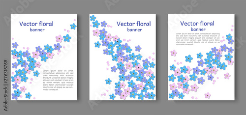 Three paper cut paper banners, poster  Design for