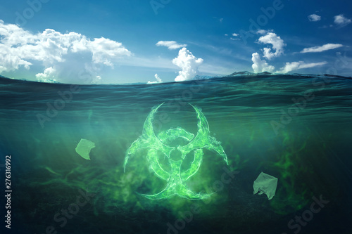 Fotografia, Obraz Ocean pollution by toxic waste