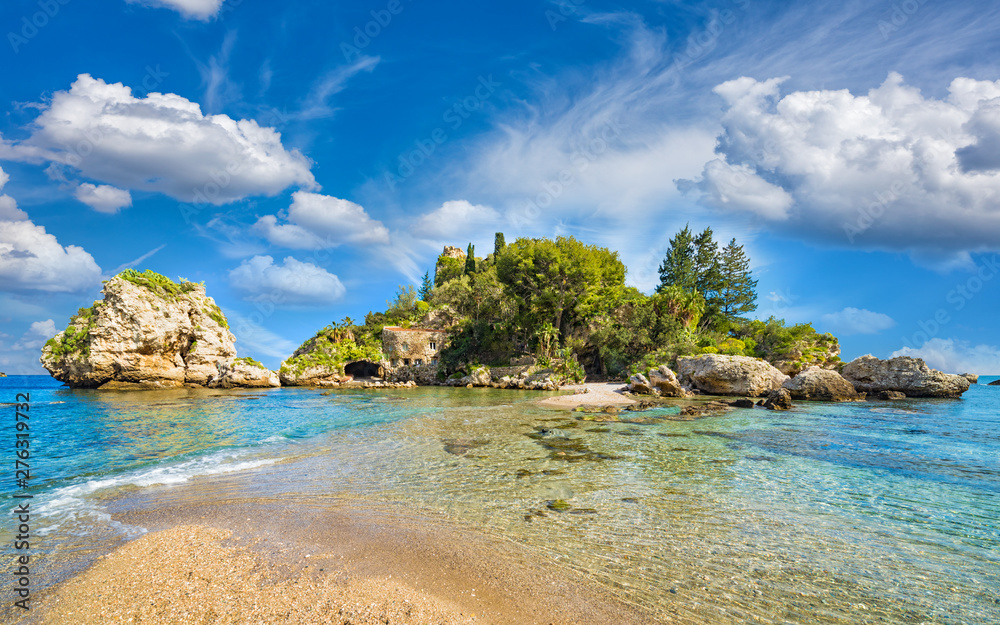 Fototapety, obrazy: Beautiful Isola Bella, small island near Taormina, Sicily, Italy