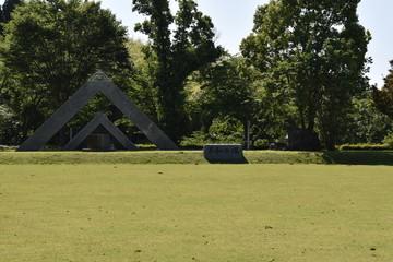 池の山キャンプ場広場平和の塔