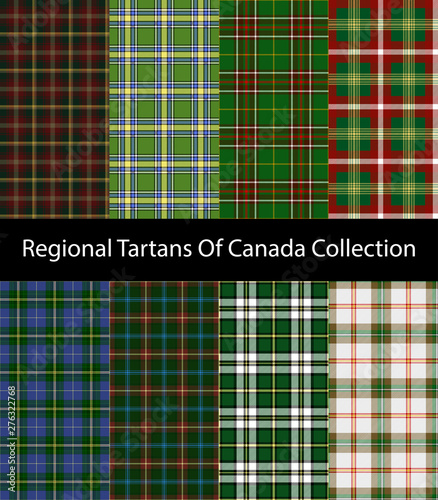 Regional tartans of Canada collection Fototapete