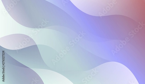 Fototapety, obrazy: Wavy Background. For Your Design Wallpaper, Presentation, Banner, Flyer, Cover Page, Landing Page. Vector Illustration with Color Gradient.