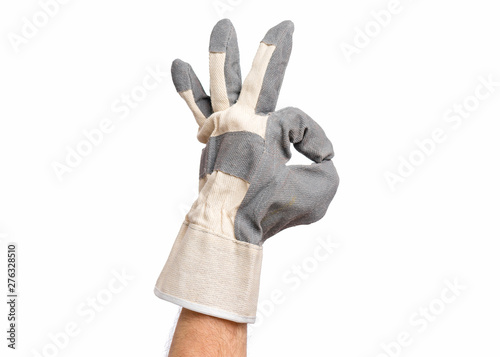 Photo Worker showing gesture - ok sign