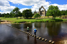 Bolton Abbey And The Stepping Stones In The Yorkshire Dales, England