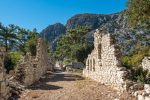 Lycian Ruins Of The Ancient City Of Olympos In Cirali Village, Turkey