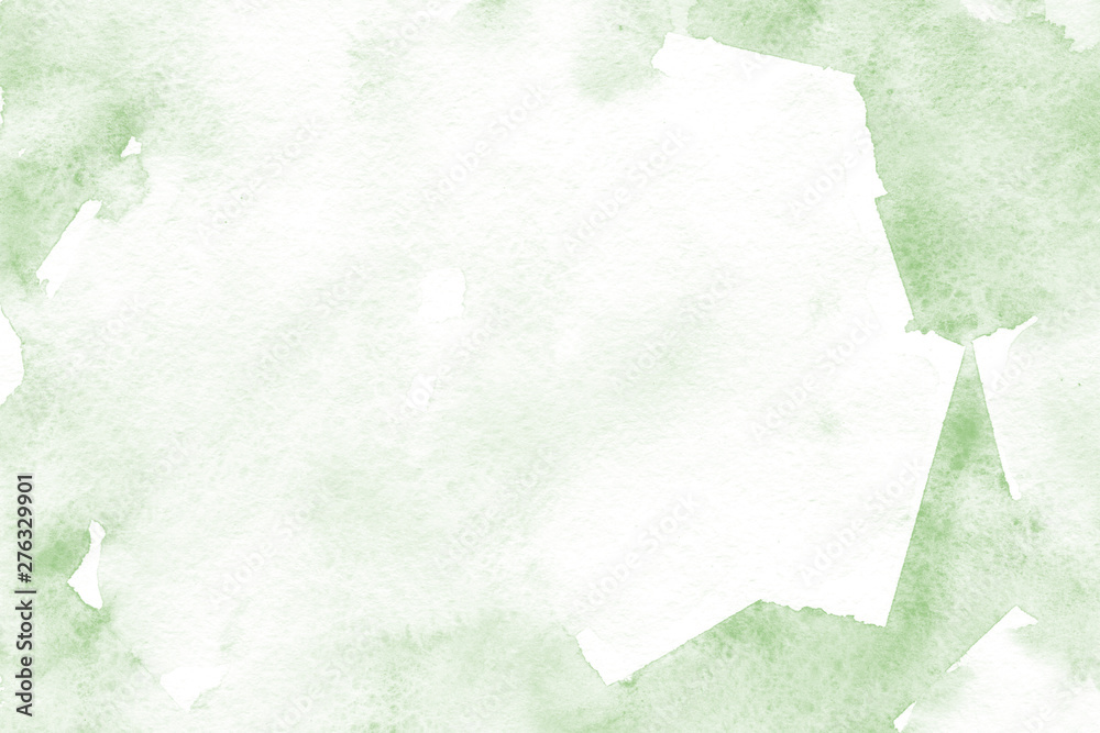 Fototapety, obrazy: Natural green background with fresh watercolor texture in trendy eco style for modern healthy food design, bio label, eco-friendly products, organic brand style, and web site/app screen backgrounds.