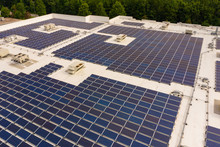 Rooftop With Full Solar Panel Coverage
