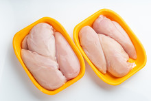 Raw Chicken Fillet Package Iso...