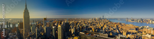 Spoed Foto op Canvas New York Aerial panorama New York City