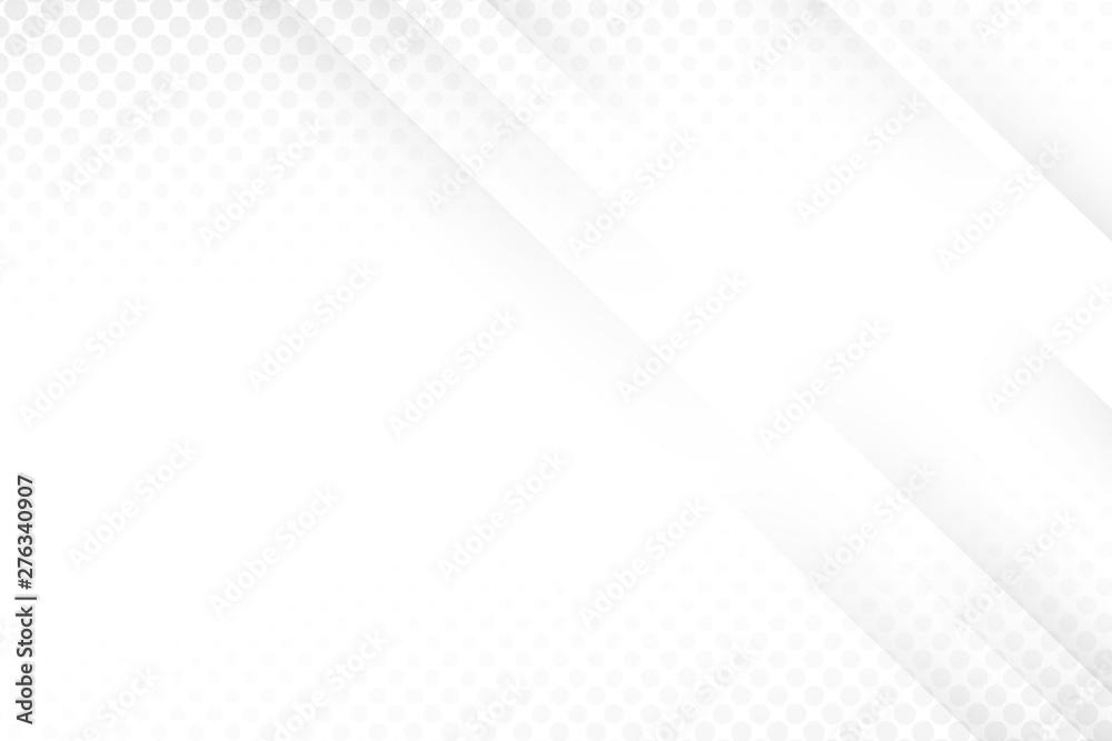 Fototapety, obrazy: white light & grey background. Space design concept. halftone style.