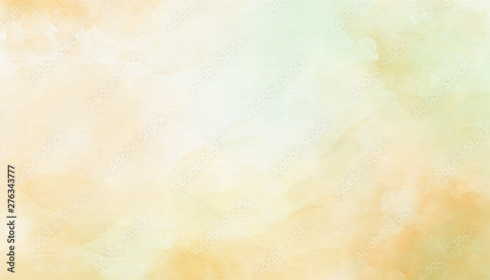 Fototapeta Delicate yellow abstract watercolor background. Great for textures, backgrounds, banner, there is a place for text.