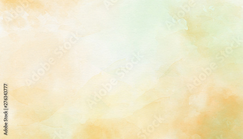 Obraz Delicate yellow abstract watercolor background. Great for textures, backgrounds, banner, there is a place for text. - fototapety do salonu