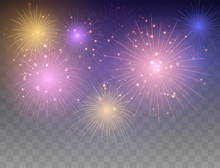 Fireworks Background. Festive Fireworks.