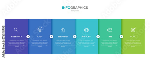 Cuadros en Lienzo Vector infographic label template with icons