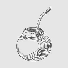 Calabash For Yerba Mate Drink....
