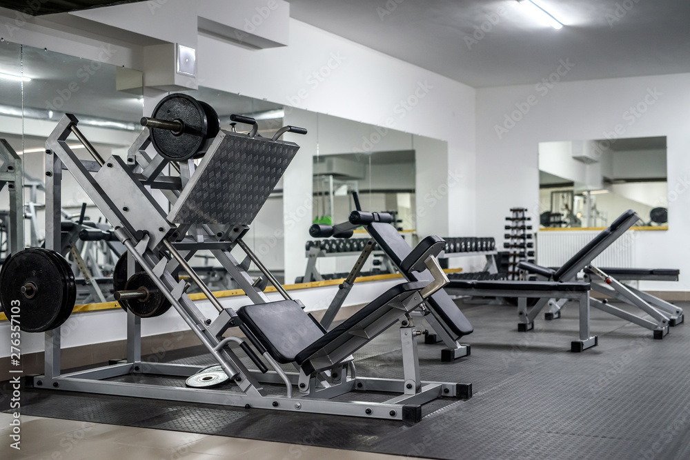 Fototapety, obrazy: Modern and empty gym interior with equipment