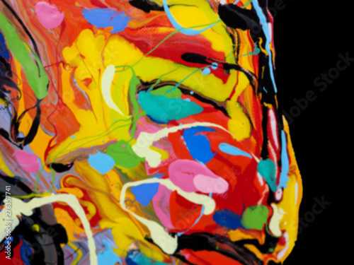 Foto op Plexiglas Paradijsvogel Blur colorful oil paint multi colors abstract background.