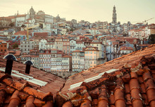 Red Tile Roofs Over Historical...