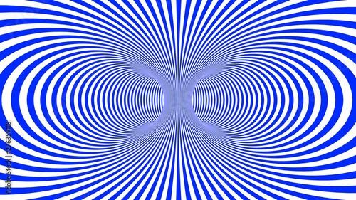Fotografía Hypnotic psychedelic illusion background with blue stripes.